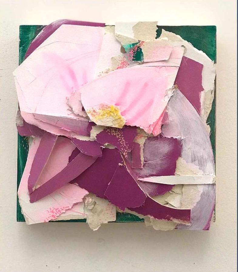 RachaelBohlander-Blossom-8%22x8%22x3%22-modeling paper, acrylic on wood panel-2021_125-fbcae13e